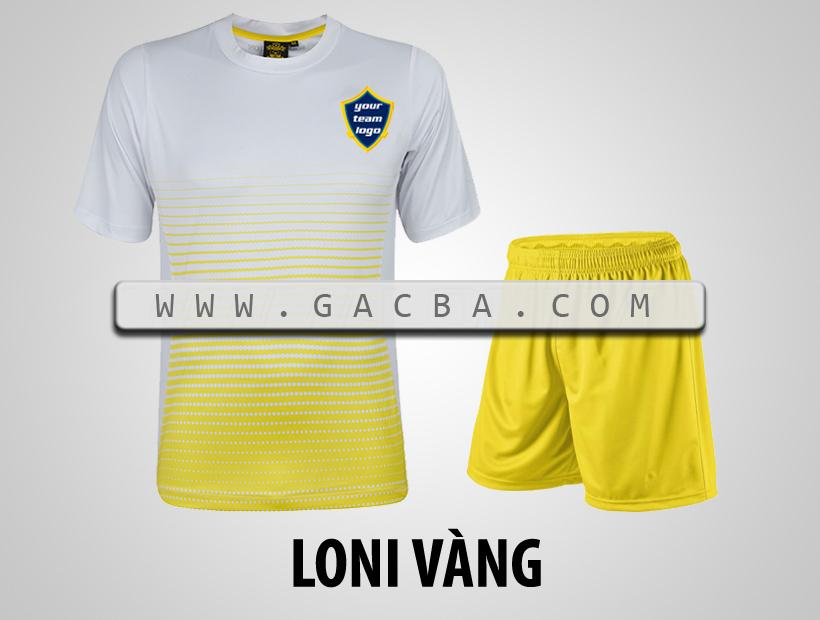 áo bóng đá không logo GACBA vàng