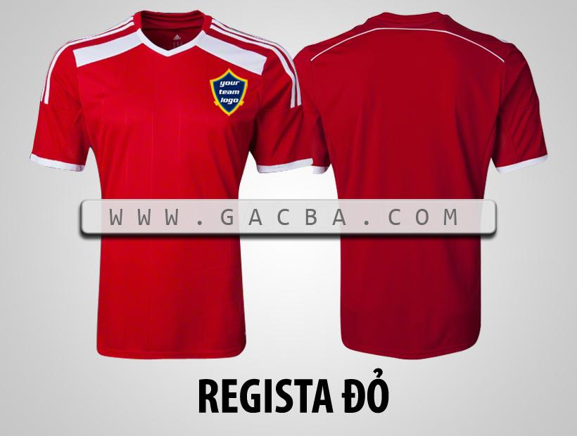 áo bóng đá không logo Regista đỏ
