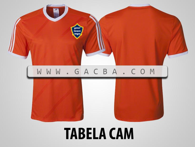 áo bóng đá không logo Tabela cam