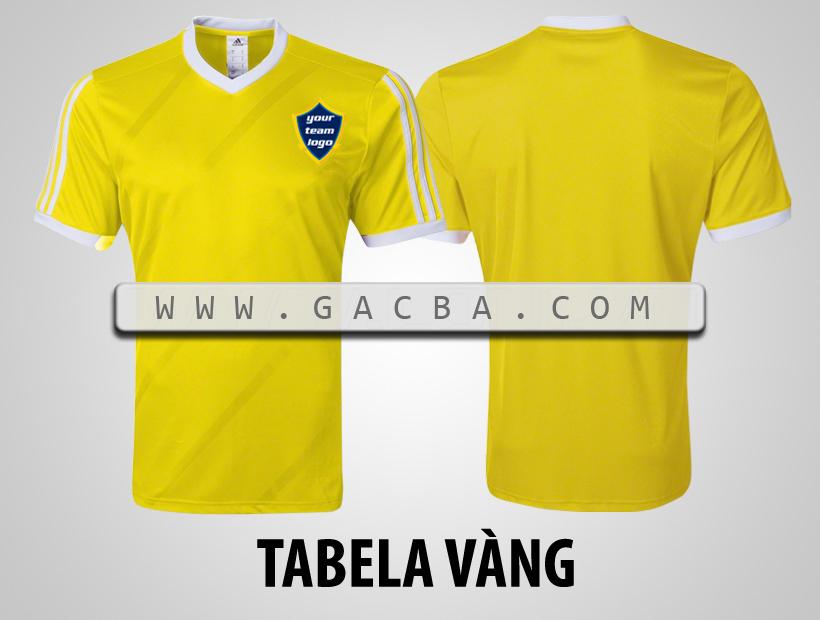 áo bóng đá không logo Tabela vàng