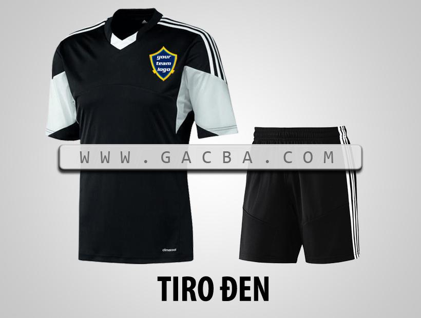 áo bóng đá không logo Tiro đen