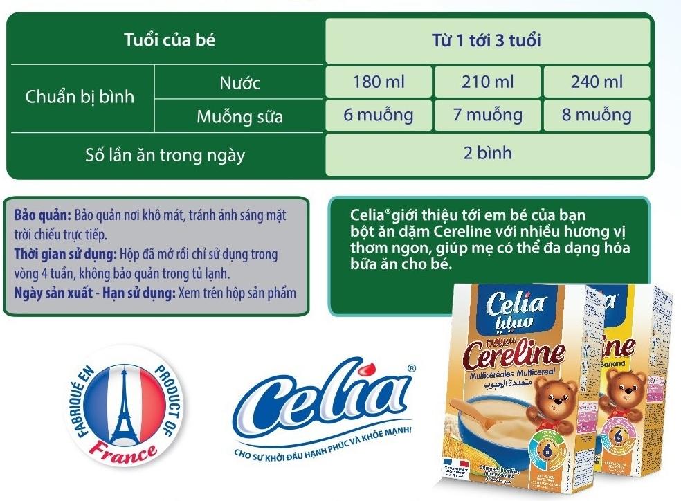 Hướng dẫn pha sữa celia expert 3