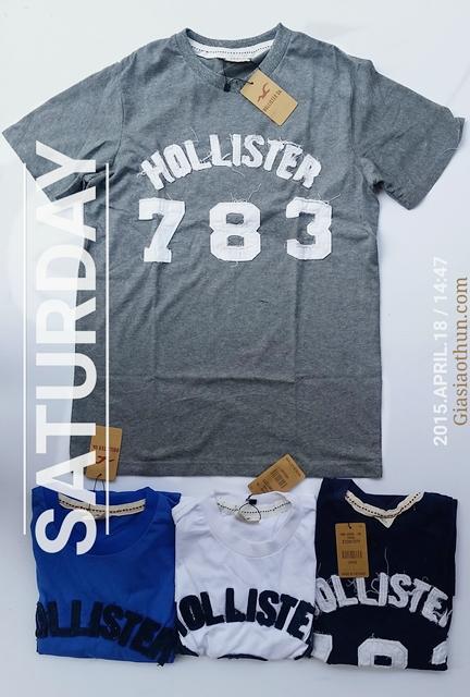áo thun nam thêu đắp Hollister 783