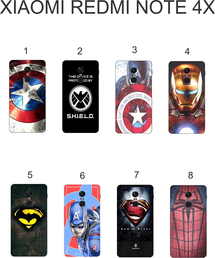 Ốp lưng Xiaomi Redmin Note 4X dẻo in hình siêu anh hùng
