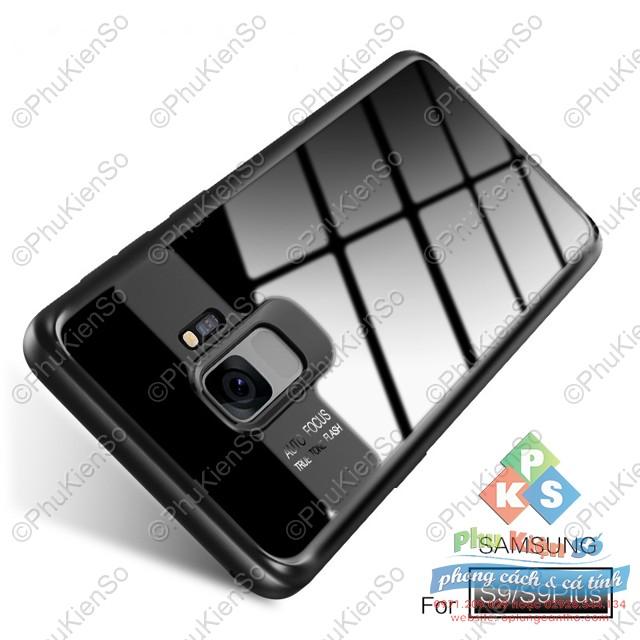 Ốp lưng chống sốc lưng trong viền dẻo cho Samsung S9 Plus