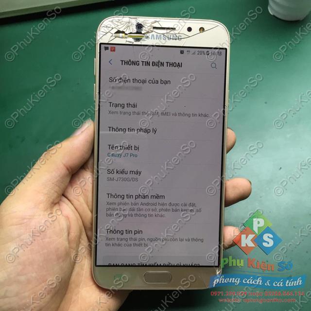 Thay ép kính màn hình Samsung J7 Plus tại Cần Thơ.