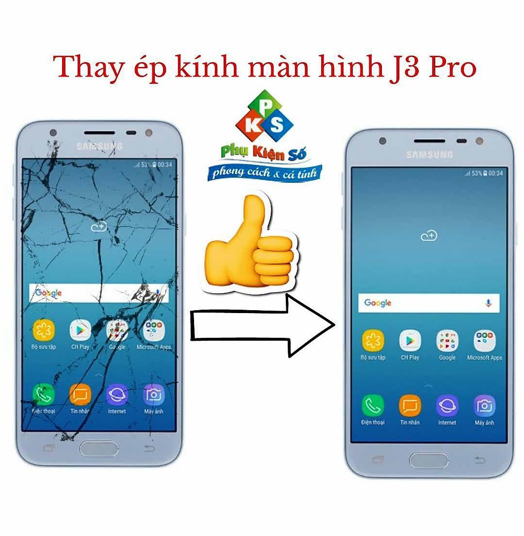 Thay ép kính màn hình Samsung J3 Pro 2017 tại Cần Thơ.