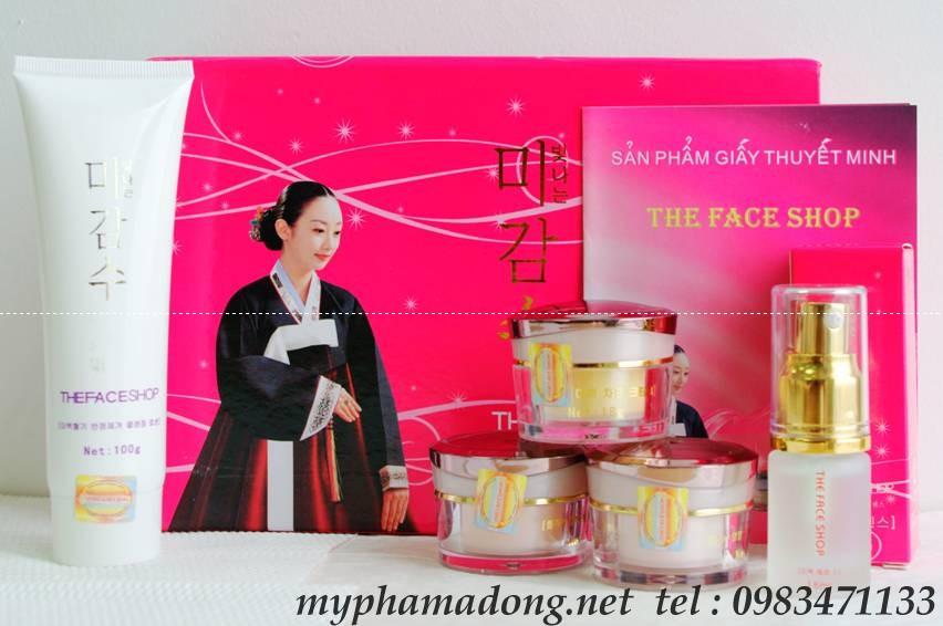 Bộ mỹ phẩm dưỡng làm trắng da The Face Shop Hồng (5in1) của Hàn Quốc