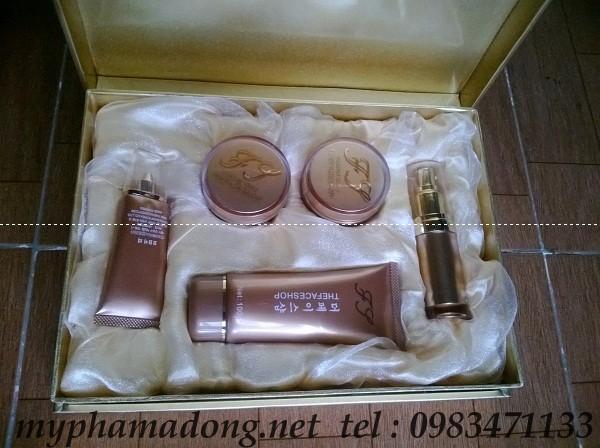 Bộ mỹ phẩm trị nám, tàn nhang trắng da The Face Shop cao cấp 5in1 vàng (mới)- Hàn Quốc