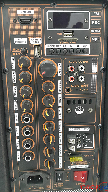 Bảng mạch Loa Kéo Karaoke Di Động Tích Hợp Màn Hình Bose KT-9915