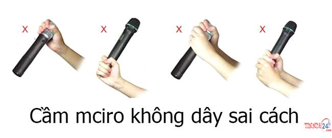 Nên cầm micro như thế nào để hát hay?