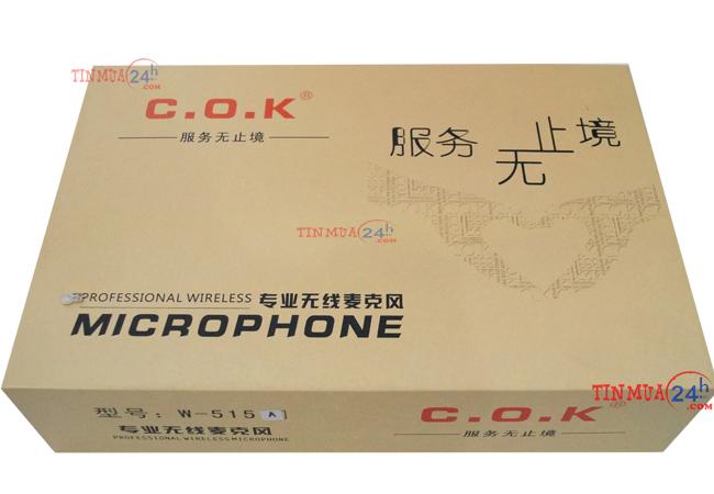 Hộp Micro Không Dây Cao Cấp COK W515A