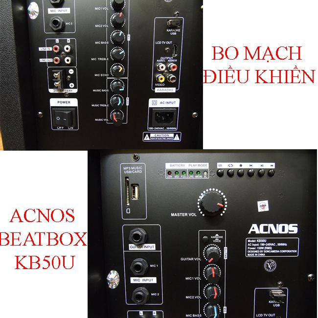 Bo mạch Loa Karaoke Di Động Acnos Beatbox KB50U