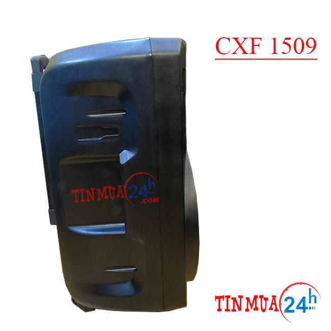 mặt bên loa vali kéo di động CXF 1509