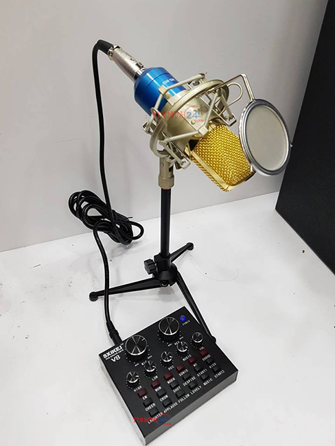 Micro Livestream SNQiSY MS800 - Soundcard V8 Cao Cấp