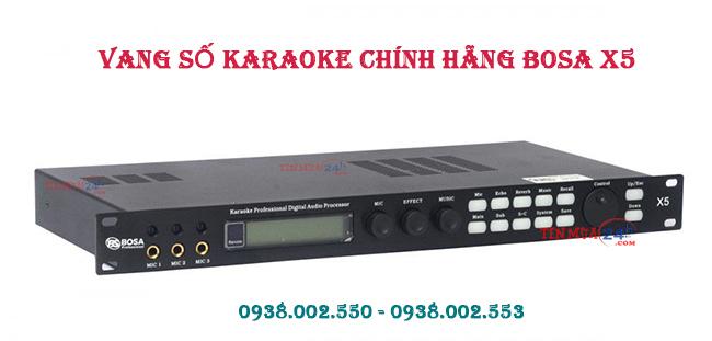 Thiết kế mixer  Karaoke Chính Hãng Bosa X5