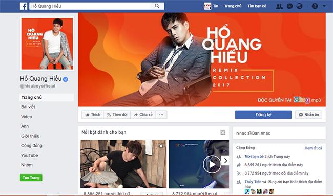 Fanpage Hồ Quang Hiếu