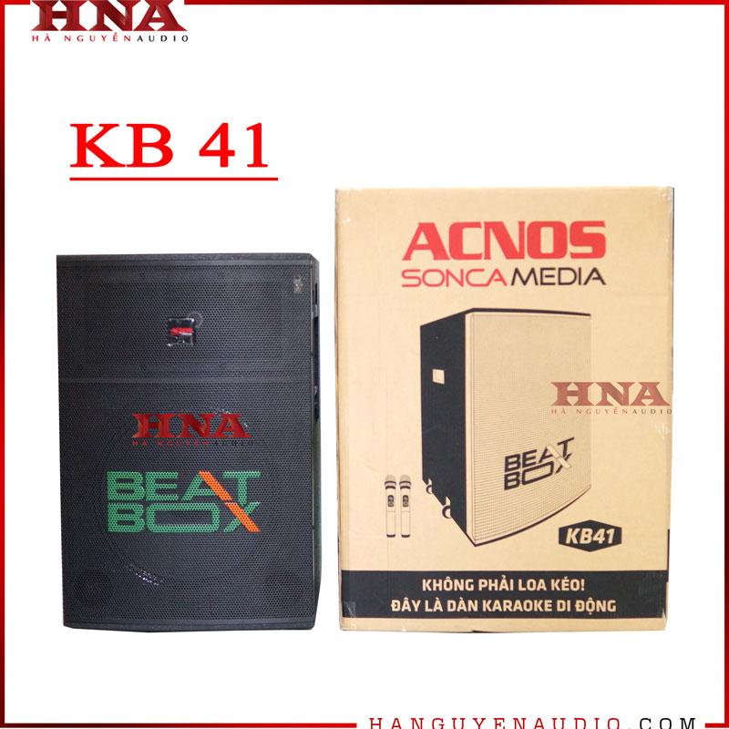 Loa kéo karaoke chính hãng Acnos Beatbox KB41