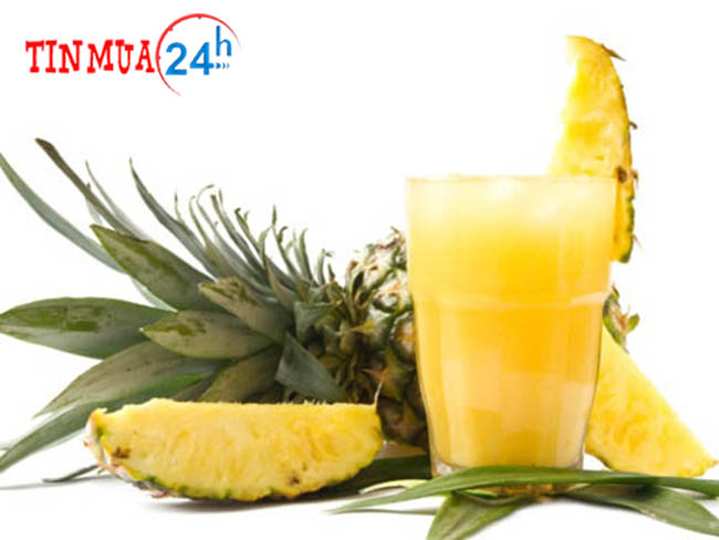 Nước trái thơm thức uống tốt cho giọng
