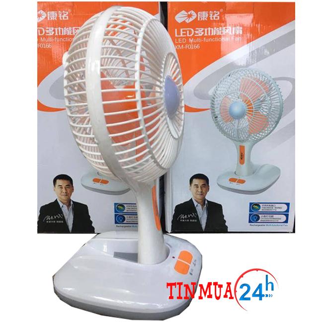 Quạt Bàn Mini Tích Điện KM – F0166