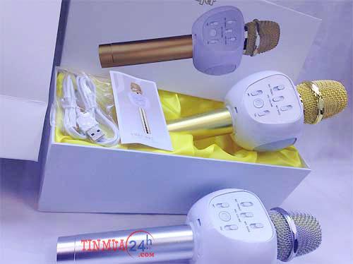 micro kèm loa karaoke bluetooth YHSJ-007, micro kèm loa karaoke bluetooth, micro kèm loa 3 trong 1 YHSJ-007