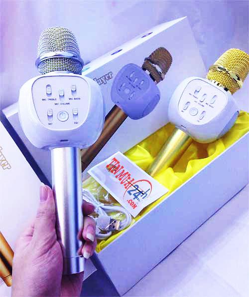 micro kèm loa karaoke bluetooth YHSJ-007, micro kèm loa karaoke bluetooth, micro kèm loa YHSJ-007