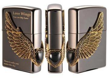 zippo love wings