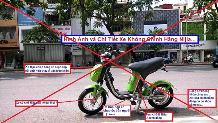 Hình ảnh tổng hợp giúp bạn phân biệt xe Nijia chính hãng và xe Nijia Nhái