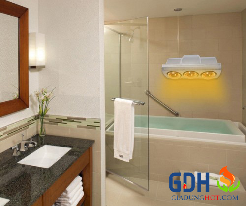 Đèn sưởi nhà tắm 3 bóng Philip