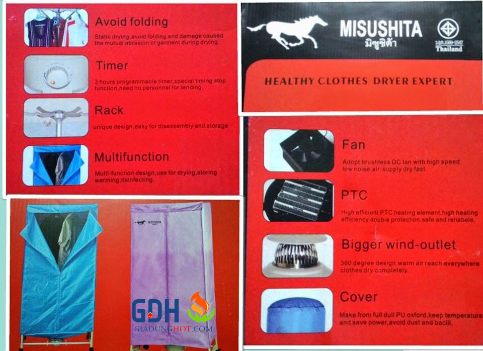 Máy sấy quần áo Misushita