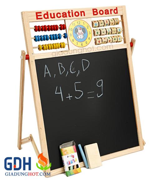 Bảng tính 2 mặt kèm bộ chữ số có nam châm cho bé 3