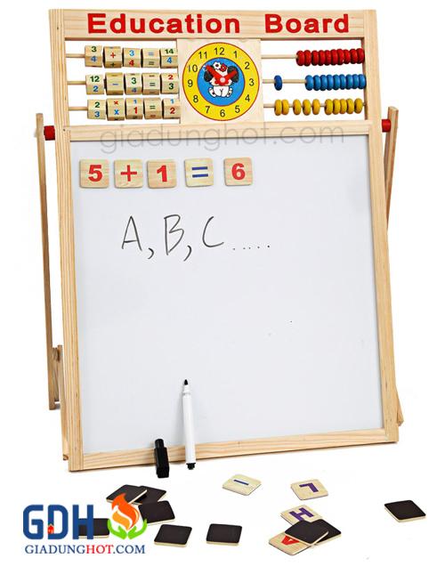 Bảng tính 2 mặt kèm bộ chữ số có nam châm cho bé 2