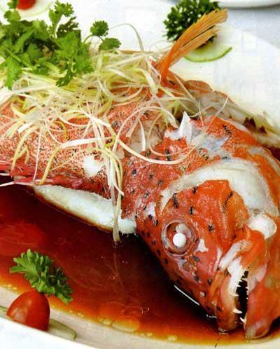 Cá mú đỏ hấp xì dầu