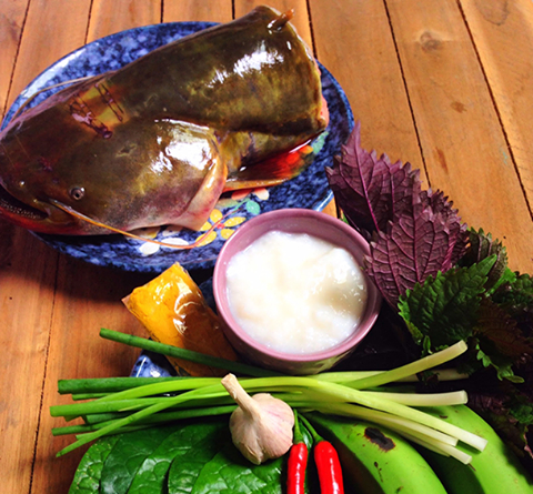 cá nheo om chuối đậu