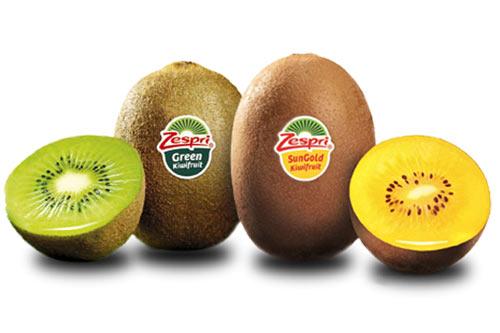 kiwi xanh và kiwi vàng
