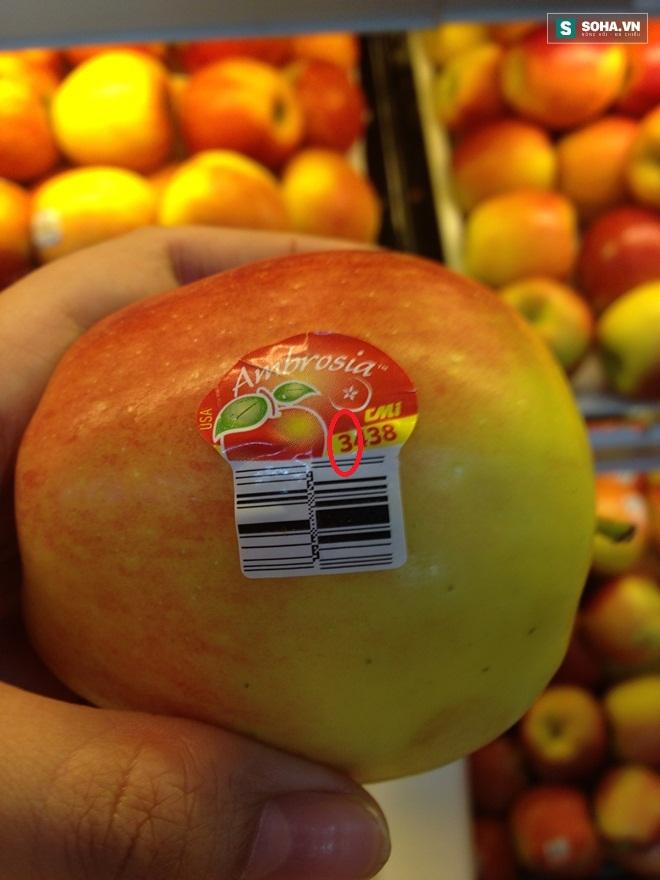 Ý nghĩa của các con số trên tem dán hoa quả nhập khẩu, táo i-on hóa