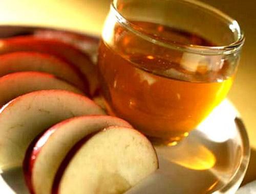 detox táo, chanh tươi và giấm táo