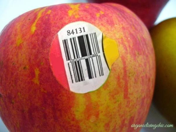 Ý nghĩa của các con số trên tem dán hoa quả nhập khẩu, táo biến đổi gen