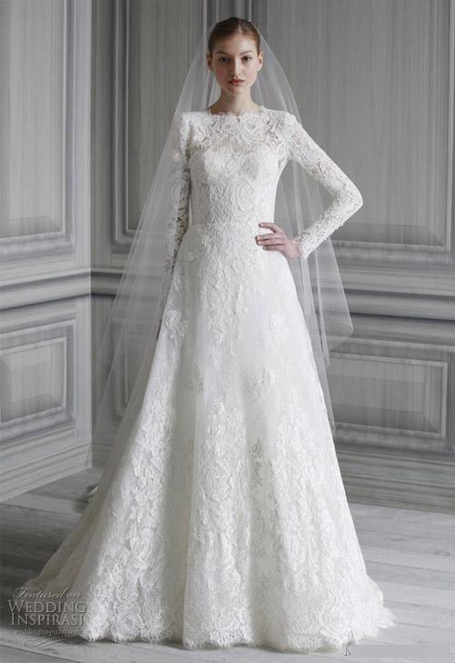 Chọn váy cưới cho cô dâu vào mùa đông