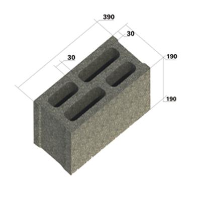 Gạch xây rỗng 4 lỗ- 190L4