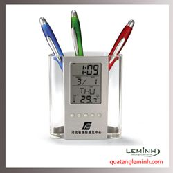Đồng hồ kết hợp ống cắm bút 001