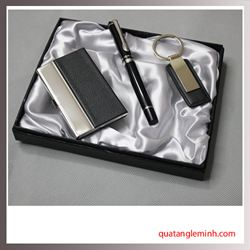 Bộ Quà Tặng Bút Ký +Hộp đựng namecard + Móc chìa khóa 001