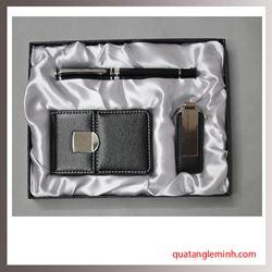 Bộ Quà Tặng Bút Ký +Hộp đựng namecard + Móc chìa khóa 002