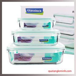 Bộ 3 hộp thủy tinh cường lực Glasslock - GL135