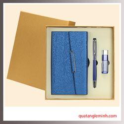 Bộ quà tặng 3 sản phẩm Sổ da A6, Bút ký, USB OTG 003