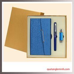 Bộ quà tặng 3 sản phẩm Sổ da A6, Bút ký, USB OTG 006