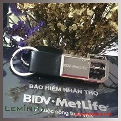 Móc khóa da cao cấp - KH Bảo hiểm Nhân Thọ BIDV Metlife