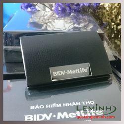 Hộp đựng namecard da  - KH Bảo hiểm Nhân Thọ BIDV Metlife