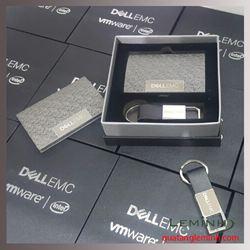 Bộ Quà Tặng Hộp Namecard + Móc khóa da cao cấp - KH DELLEMC