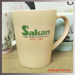 Cốc sứ Hàn Quốc Pastel Mug Cup MC In logo Sakan